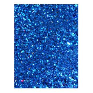 Brilho azul cartão postal