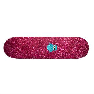 Brilho azul conhecido personalizado do rosa da cor skate boards