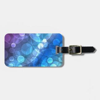 brilho azul etiquetas de bagagens