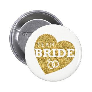 Brilho Bachelorette do ouro da noiva da equipe do Bóton Redondo 5.08cm