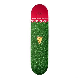 Brilho bonito conhecido personalizado do verde da shape de skate 18,7cm