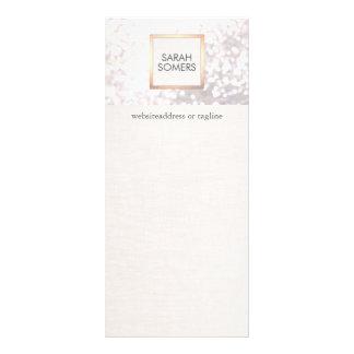 Brilho branco elegante e FALSO de Bokeh de linho Panfletos Informativos Personalizados