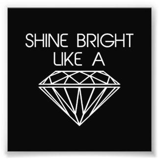Brilho brilhante como um diamante impressão de fotos