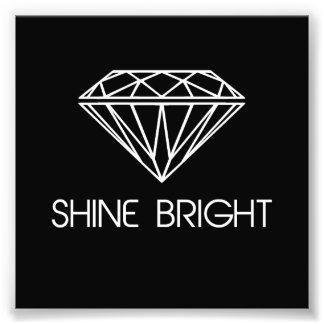 Brilho brilhante como um diamante foto