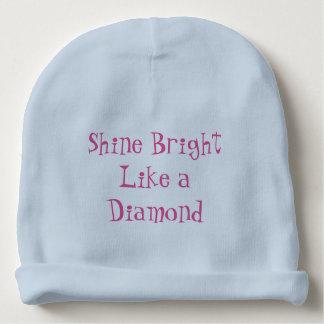 Brilho brilhante como um diamante gorro para bebê