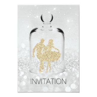 Brilho cinzento do ouro do partido do país do convite 8.89 x 12.7cm