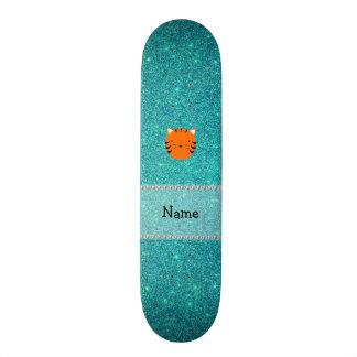 Brilho conhecido personalizado de turquesa da cara shape de skate 19,7cm