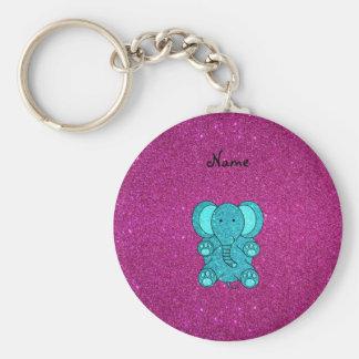 Brilho conhecido personalizado de turquesa do elef chaveiros