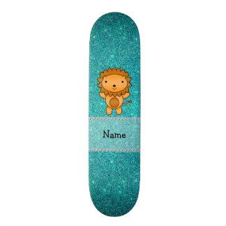 Brilho conhecido personalizado de turquesa do leão shape de skate 21,6cm