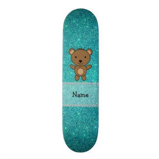 Brilho conhecido personalizado de turquesa do urso shape de skate 18,1cm