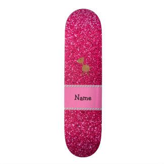 Brilho conhecido personalizado do rosa cor-de-rosa skate