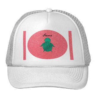 Brilho conhecido personalizado do rosa da tartarug bonés