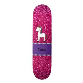 Brilho conhecido personalizado do rosa do unicórni skate