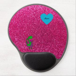 Brilho conhecido personalizado do rosa quente do d mouse pad de gel