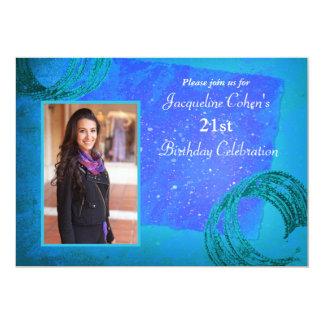 Brilho - convite de aniversário da foto
