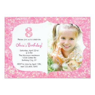 Brilho convite de oito aniversários