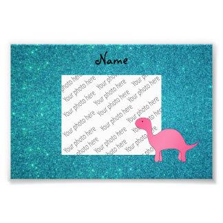Brilho cor-de-rosa conhecido personalizado de impressão de foto