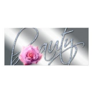 Brilho cor-de-rosa da flor do certificado de 10.16 x 22.86cm panfleto