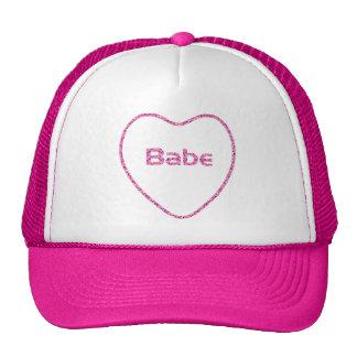 Brilho cor-de-rosa do diamante do coração:: Design Boné