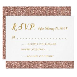 Brilho cor-de-rosa do ouro & cartão A2 do ouro