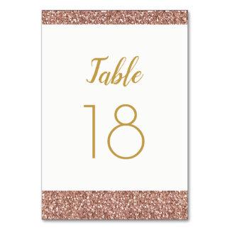 Brilho cor-de-rosa do ouro & cartão liso do número