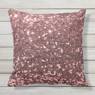 Brilho cor-de-rosa do ouro do cofre forte exterior almofada para ambientes externos