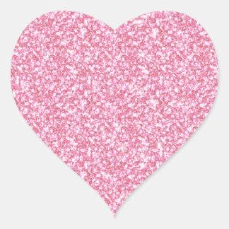 Brilho cor-de-rosa feminino impresso adesivos em forma de corações