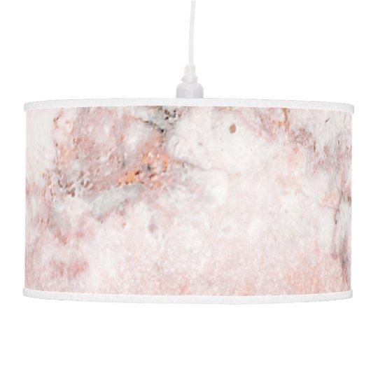 Brilho cor-de-rosa Ombre de mármore branco do ouro Abajur De Teto