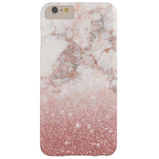 Brilho cor-de-rosa Ombre de mármore branco do ouro Capas iPhone 6 Plus Barely There