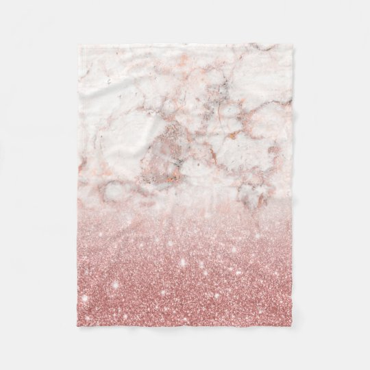 Brilho cor-de-rosa Ombre de mármore branco do ouro Cobertor De Lã