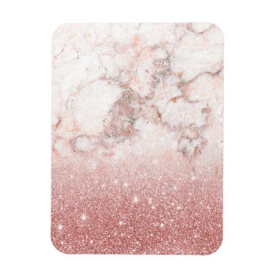 Brilho cor-de-rosa Ombre de mármore branco do ouro Ímã