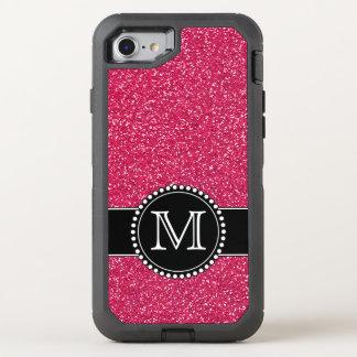 Brilho cor-de-rosa Otterbox Monogrammed Capa Para iPhone 7 OtterBox Defender