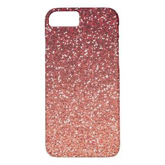 Brilho coral cor-de-rosa do falso capa iPhone 7