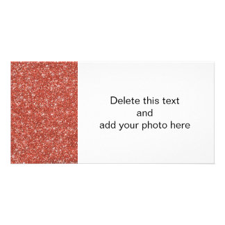 Brilho coral impresso cartão com foto