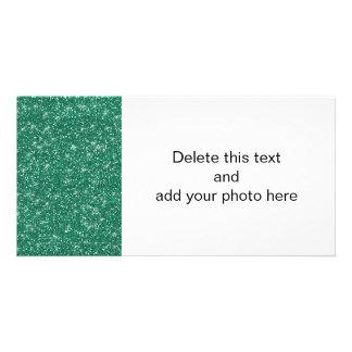 Brilho da cerceta impresso cartão com foto