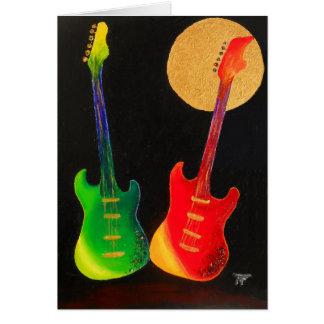 Brilho da guitarra cartão comemorativo