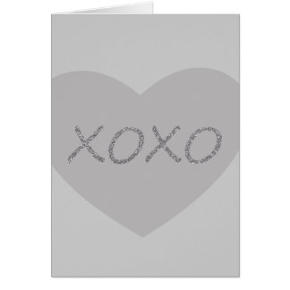 Brilho da prata XO Cartão