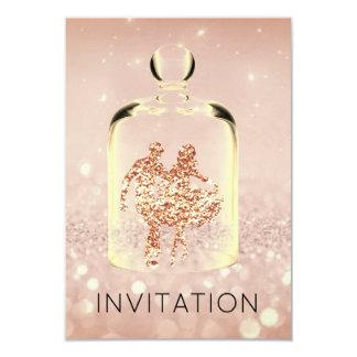 Brilho de cobre cor-de-rosa do partido do país do convite 8.89 x 12.7cm