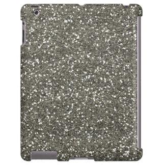 Brilho de prata à moda capa para iPad