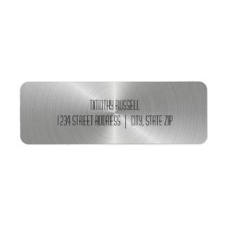 Brilho de prata do metal - etiquetas de endereço