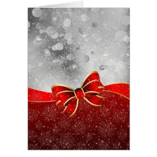 Brilho de prata e arco vermelho dos Sparkles do Cartão Comemorativo