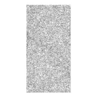 Brilho de prata elegante cartão com foto
