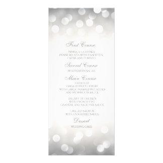 Brilho de prata elegante do cartão do menu do 10.16 x 22.86cm panfleto