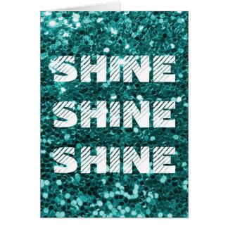 Brilho de turquesa cartão comemorativo