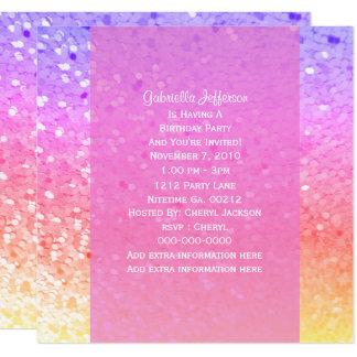 Brilho do arco-íris: Convite de festas