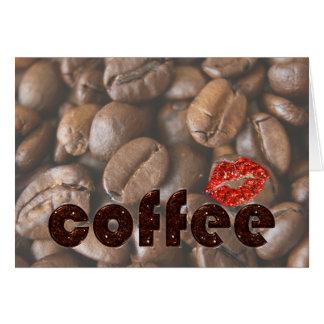 brilho do café cartão comemorativo