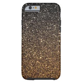 Brilho do falso de Ombre do ouro Capa Tough Para iPhone 6
