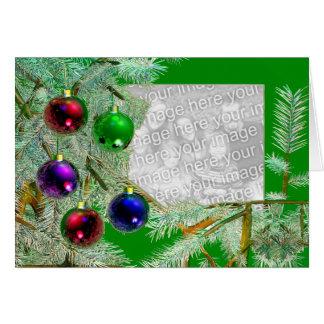 Brilho do feriado (quadro da foto) cartão comemorativo