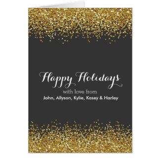 Brilho do ouro cartão comemorativo