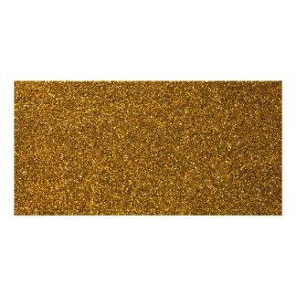 Brilho do ouro cartão com foto